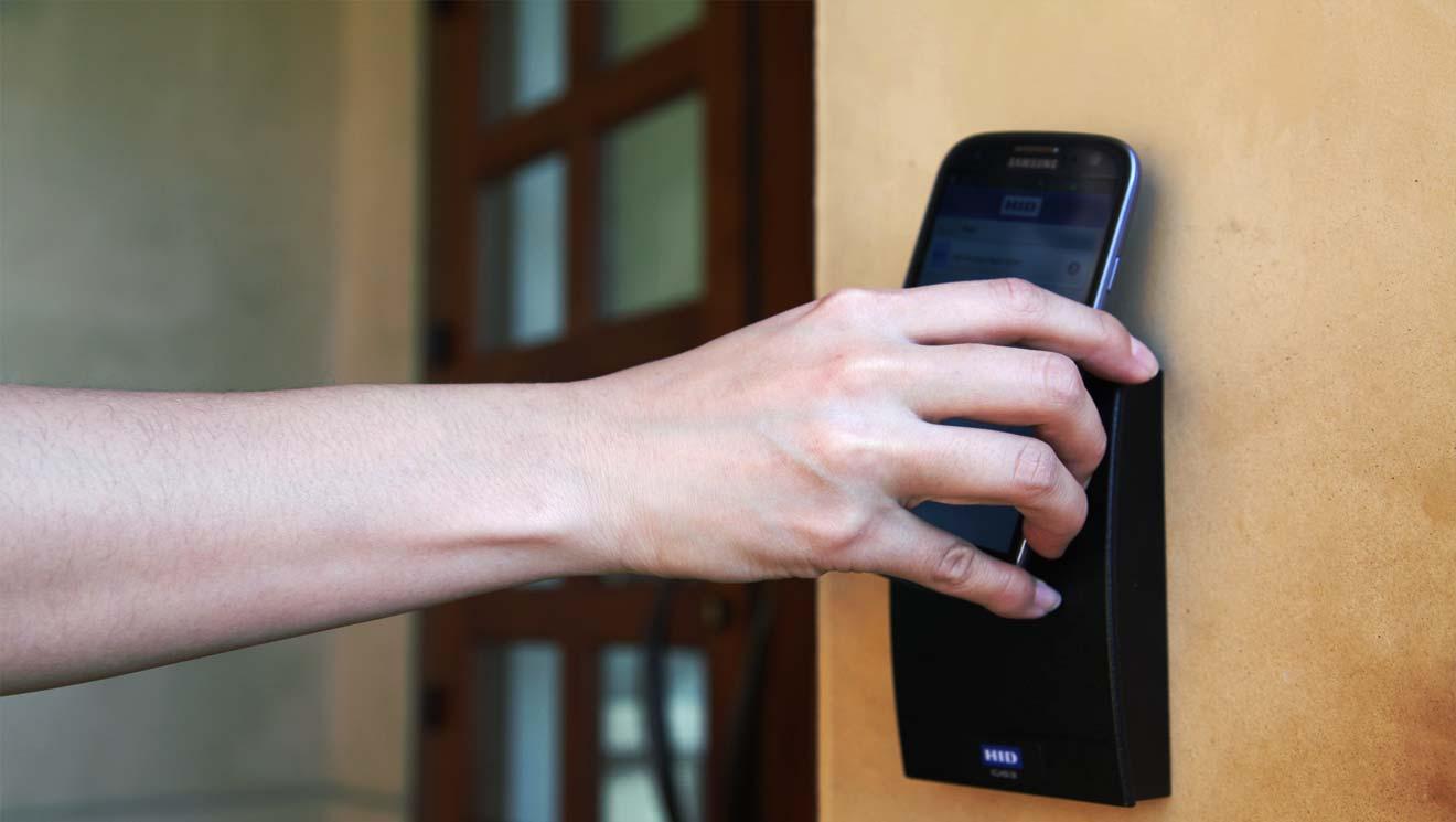Teléfonos Inteligentes credenciales de Control de Acceso